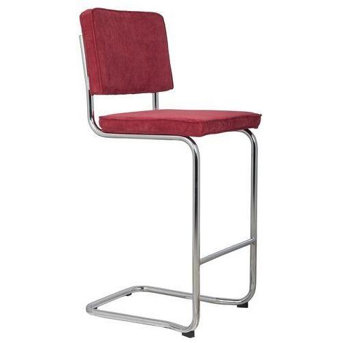 Zuiver stołek barowy ridge kink rib czerwony 21a 1500003 (8718548013742)