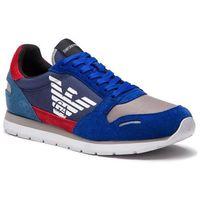 Sneakersy EMPORIO ARMANI - X4X215 XL200 D004 Prus.Blu/Scarl/Ming, w 3 rozmiarach