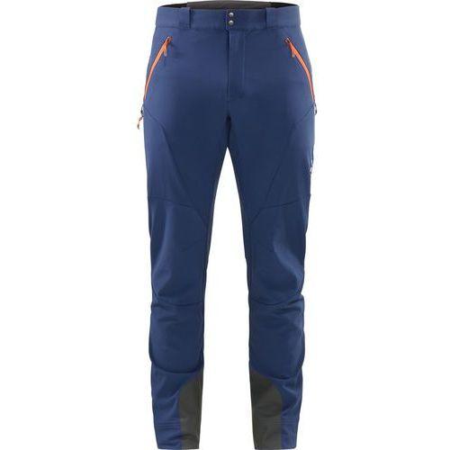 roc fusion spodnie długie mężczyźni niebieski xl 2018 spodnie softshell marki Haglöfs