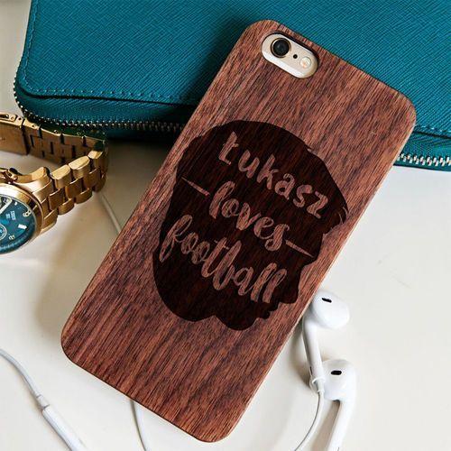 Mygiftdna Love football - drewniana obudowa - wiśnia - iphone 6+