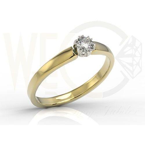 Pierścionek zaręczynowy z żółtego i białego złota z brylantem 0,20 ct wzór bp-2120zb marki Węc - twój jubiler