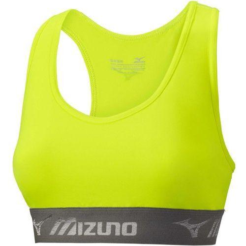 Mizuno biustonosz sportowy Alpha Bra/Black Safety Yellow S (5054698297346)