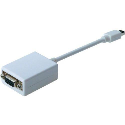 Digitus Przejściówka, adapter displayport, vga  ak-340412-001-w, [1x złącze męskie mini-displayport - 1x złącze żeńskie vga] (4016032328605)