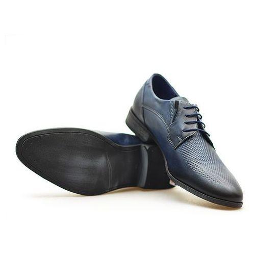 Pantofle męskie Duo Men 631/E Granat palony Lico, kolor niebieski