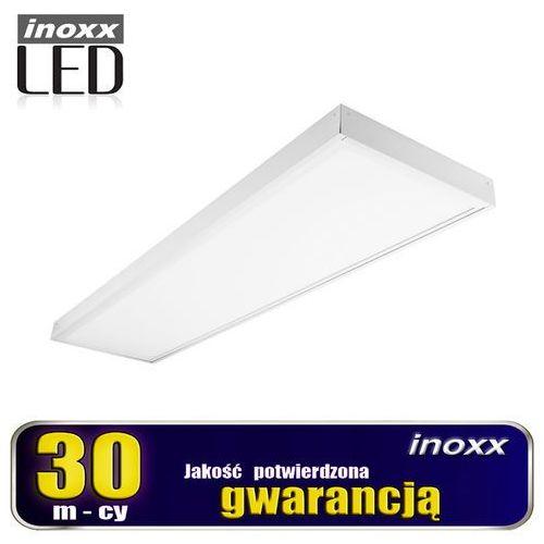 Panel led sufitowy 120x30 48w lampa slim kaseton 3000k ciepły + ramka natynkowa marki Inoxx