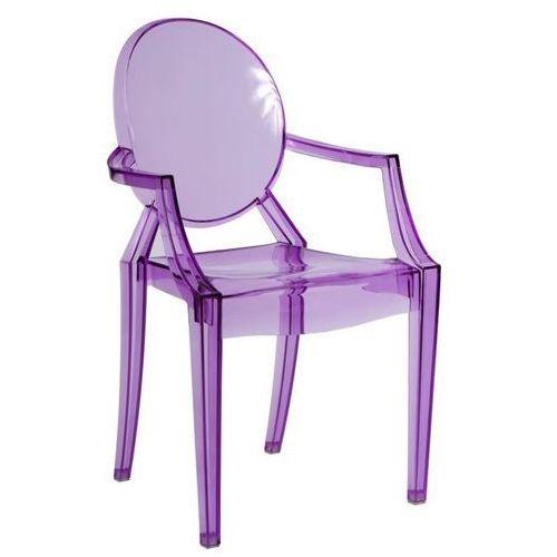 D2.design Krzesło royal inspirowane louis ghost - fioletowy   transparentny (5902385700801)
