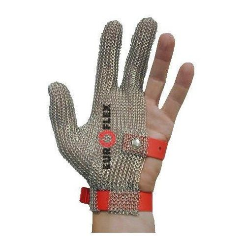 Rękawica ochronna STANDARD, nierdzewna 3-palcowa, zielona, rozmiar 6, size XS, HS130
