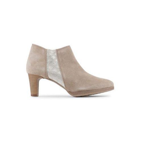 Buty za kostkę botki damskie ARNALDO TOSCANI - 5192K509-46, kolor beżowy