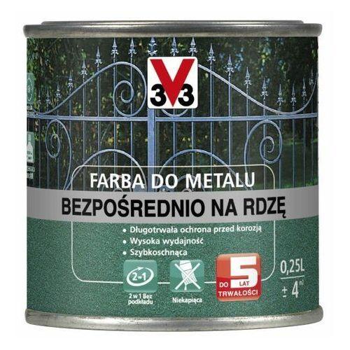 Farba do metalu V33 bezpośrednio na rdzę matowy ciemny grafit 0,25 l (3153890127283)