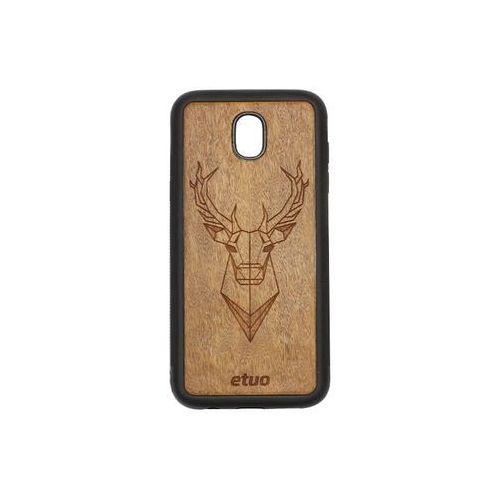 Samsung galaxy j5 (2017) - etui na telefon wood case - jeleń - imbuia marki Etuo wood case