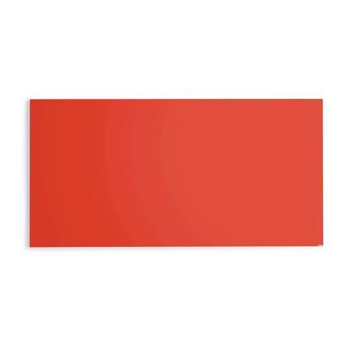 Szklana tablica suchościeralna 2000x1000 mm jaskrawy czerwony, 3803621