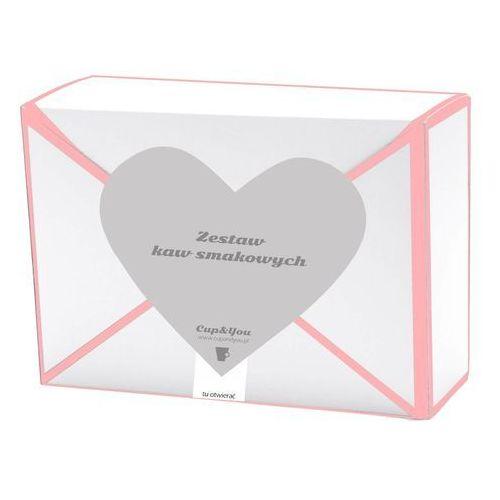 Cup&you cup and you Kawowa przesyłka z sercem – różowa 18 smaków x 10g - prezent upominek dla zakochanych z kawą aromatyzowana smakową