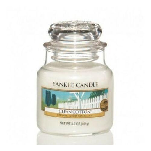 Świeca YANKEE słoik mały Clean Cotton® - YSMCC1 (5038580004458)