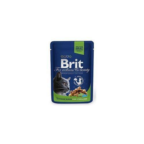 premium pouch chicken slices for sterilised 100g marki Brit