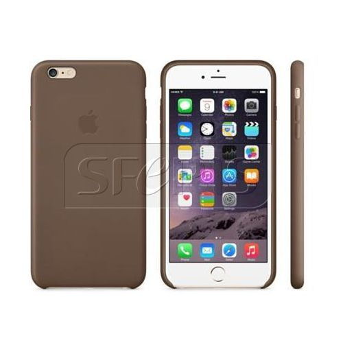 Apple iPhone 6 Plus Leather Case Olive Brown - MGQR2ZM/A
