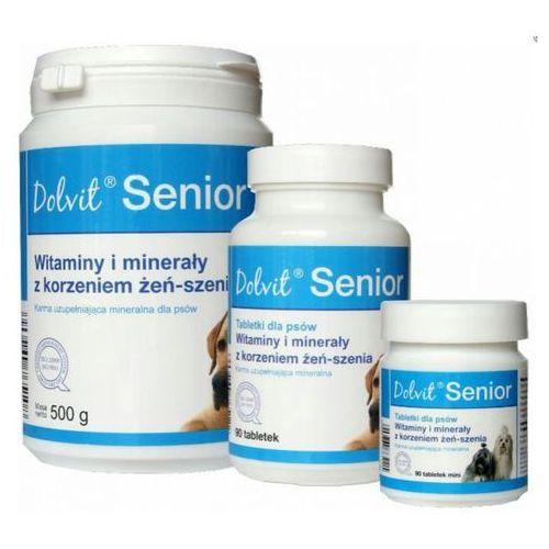 dolvit senior preparat witaminowy z korzeniem żeń-szenia dla psów dojrzałych marki Dolfos