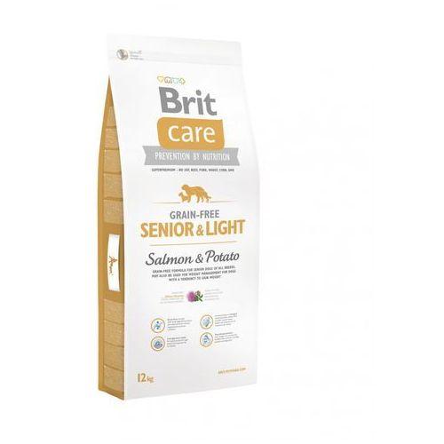 Brit care grain-free senior light salmon & potato 12kg (8595602510269)