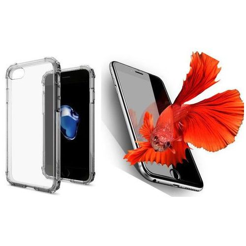 Zestaw | Spigen SGP Crystal Shell Dark Crystal | Obudowa + Szkło ochronne Perfect Glass dla modelu Apple iPhone 7