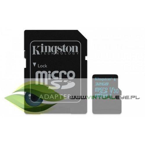 Kingston microsd 32gb canvas go 90/45mb/s uhs-i v30 + adapter