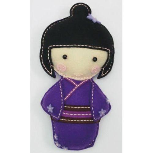 Stnux Filcowe robótki lalka japonka fioletowa yoko