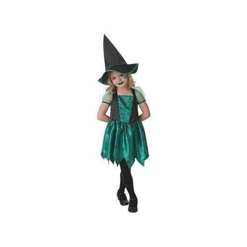 Kostium zielona czarownica w pajęczyny dla dziewczynki - roz. l marki Rubies