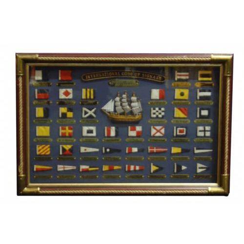 Obraz kod flagowy w ramie marki Nauticdecor