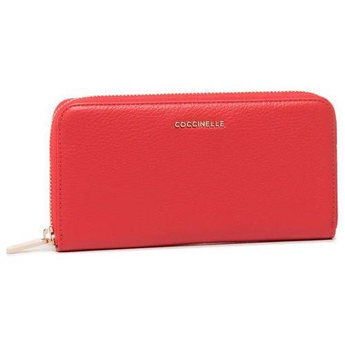 Coccinelle Duży portfel damski - fw5 metallic soft e2 fw5 11 04 01 polish red r08