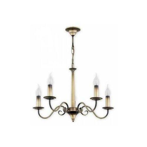 asti o2895 w5 pat lampa wisząca zwis 5x60w e14 patyna marki Lemir