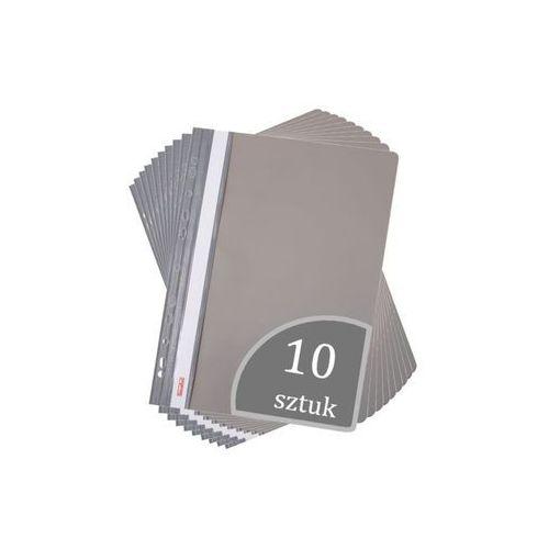 Skoroszyt A4 wpinany do segregatora PVC 10 sztuk - szary (2501234503100)