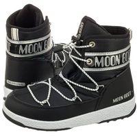 Śniegowce Moon Boot WE JR Mid WP Black/Silver 34051200001 (MB32-a), kolor czarny
