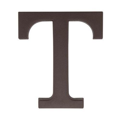 Litera T wys. 9 cm PVC brązowa (5901912823426)