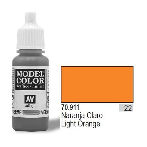 VALLEJO Farba Nr22 Light Orange 17mlMatt (8429551709118)