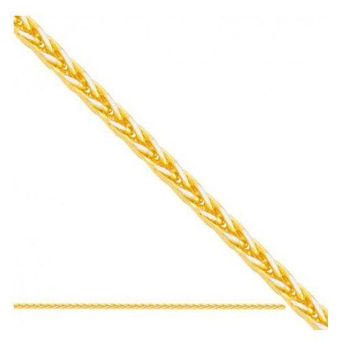 Rodium Łańcuszek złoty pr. 585 - lv002a