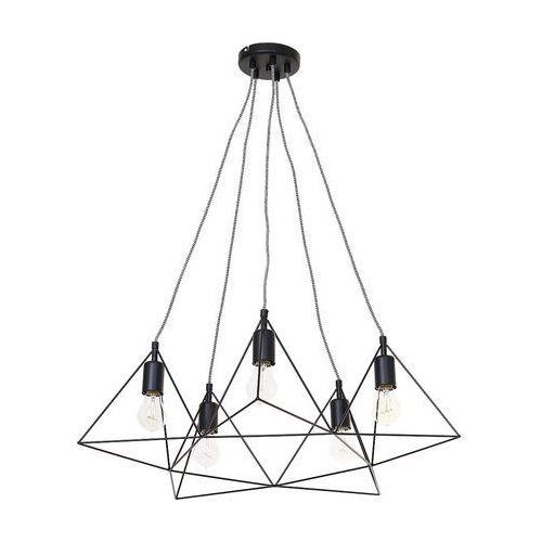 Lampa wisząca TREKANT 5xE27/60W, kolor Czarny