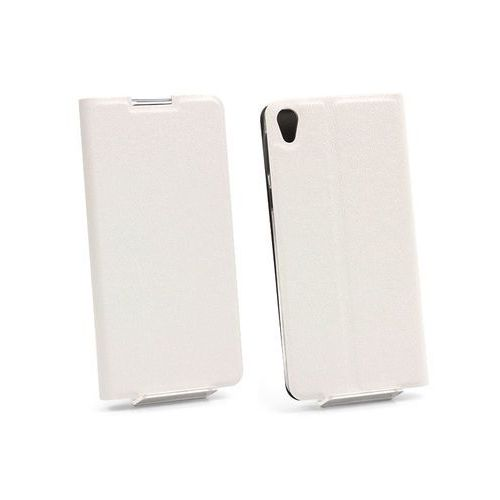 Sony Xperia E5 - etui na telefon Flex Book - biały, ETSN371FLBKWHT000