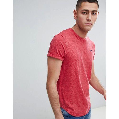 Hollister Curved Hem Crew Neck T-Shirt Seagull Logo in Pink Marl - Pink, w 2 rozmiarach