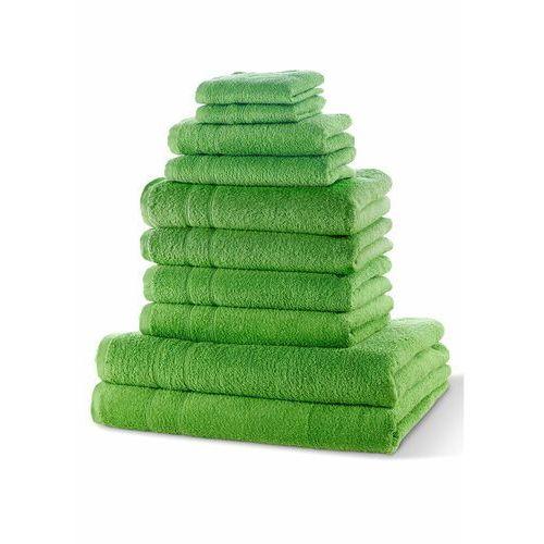 Komplet ręczników (10 części) bonprix zielone jabłuszko