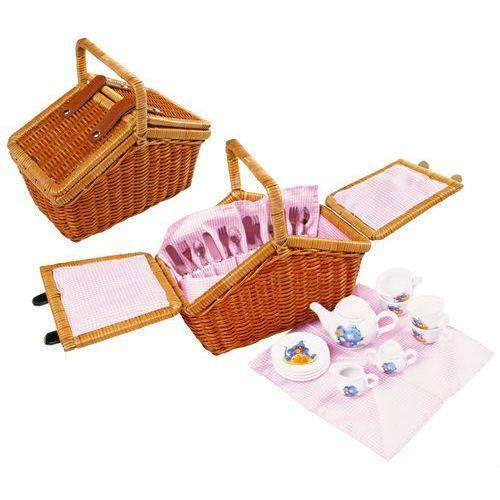 Small Foot Wiklinowy koszyk piknikowy z wyposażeniem romantic 30 elementów 5300