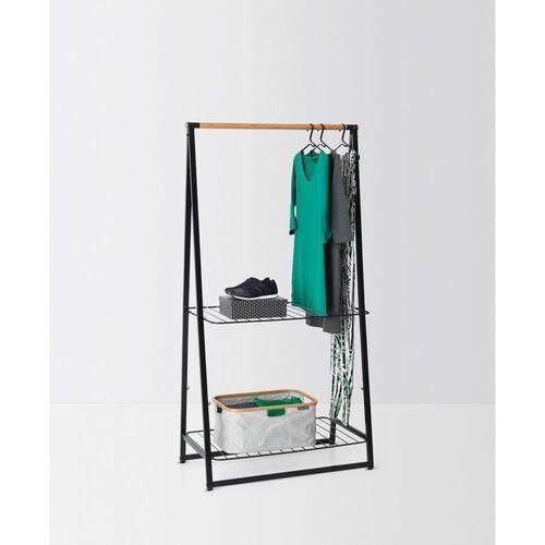 - wieszak na ubrania z półkami, 99,50 cm, czarny marki Brabantia