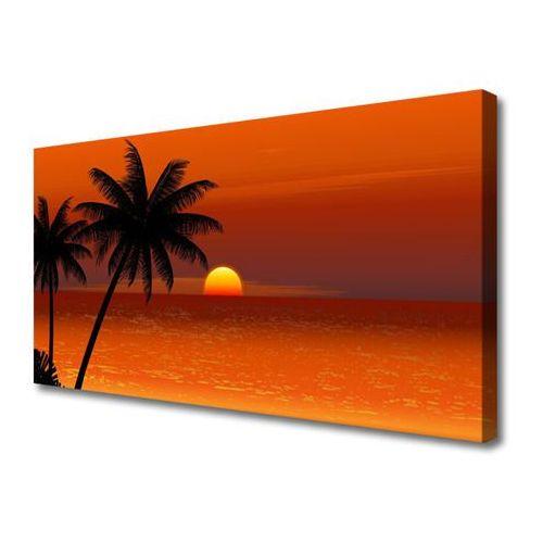 Obraz na Płótnie Palma Morze Słońce Krajobraz