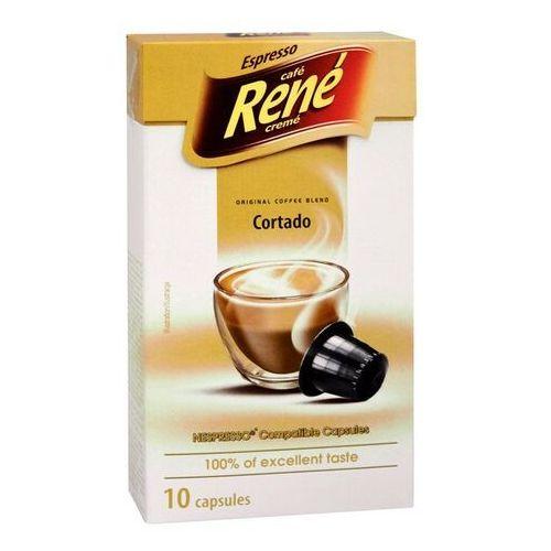 Nespresso kapsułki Rene cortado (kawa z mlekiem) kapsułki do nespresso – 10 kapsułek