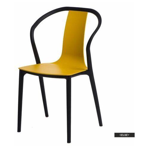 SELSEY Krzesło Bella żółte (5903025312897)