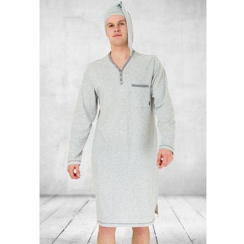 Koszula nocna męska bonifacy 358 szary melanż marki M-max
