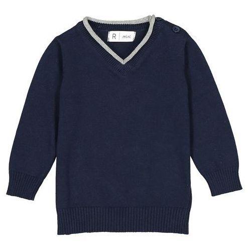 Sweter z cienkiej dzianiny, dekolt w serek 1 miesiąc - 3 latka Oeko Tex, kolor żółty