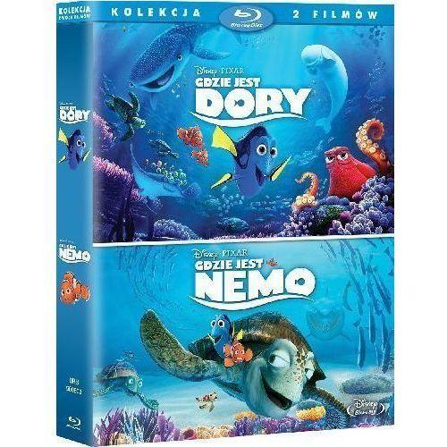 Pakiet: Gdzie jest Dory / Gdzie jest Nemo (Blu-ray) - Andrew Stanton DARMOWA DOSTAWA KIOSK RUCHU
