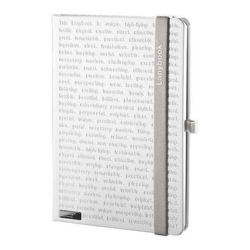 Notes A5 Lanybook The One w kratkę biały z szarą gumką (8057432190856)