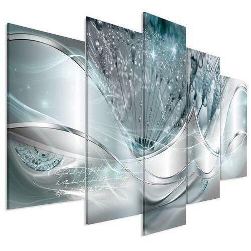 Artgeist Obraz - nowoczesne dmuchawce (5-częściowy) niebieski szeroki