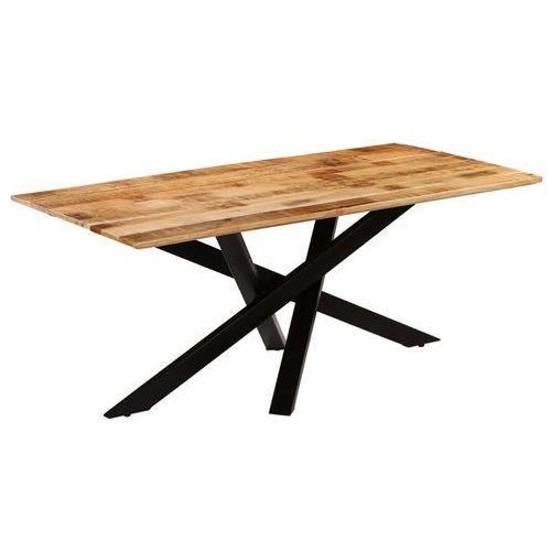 Vidaxl Stół jadalniany, surowe drewno mango, 180 x 90 x 77 cm
