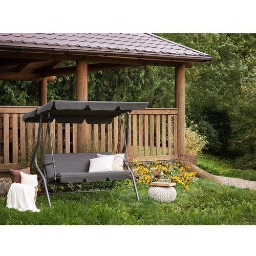 Huśtawka ciemnoszara – meble ogrodowe – stal – ławka – chaplin marki Beliani