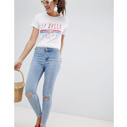 high waist super skinny jeans - blue, New look